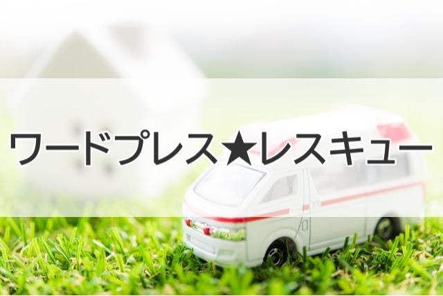 くみちゃん先生のワードプレス★レスキュー